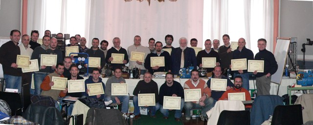 Galileo Master Certificates handed out at the end of a Training Course