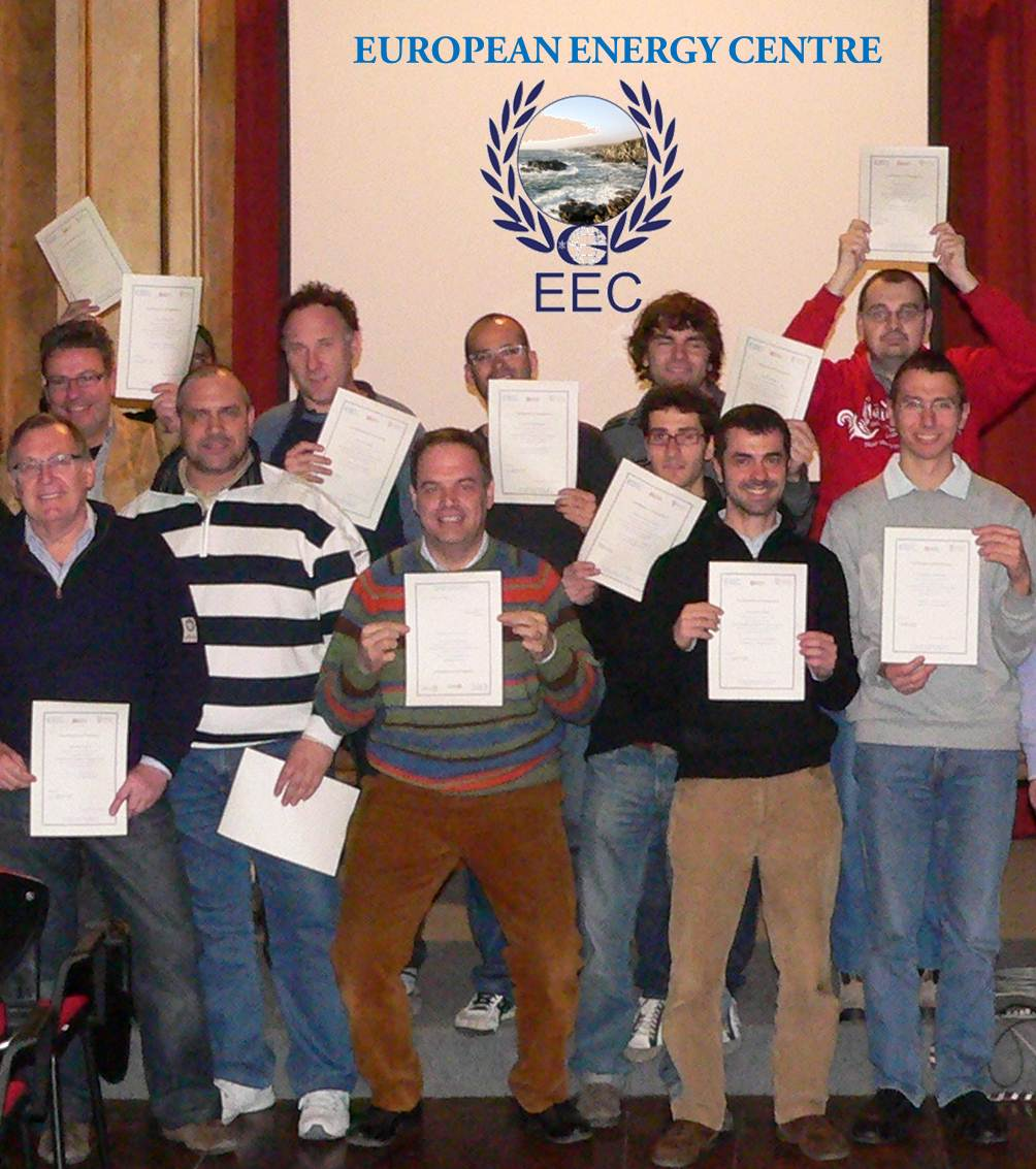 Galileo Master Certificates awarded to participants of the European Energy Centre (EEC) courses