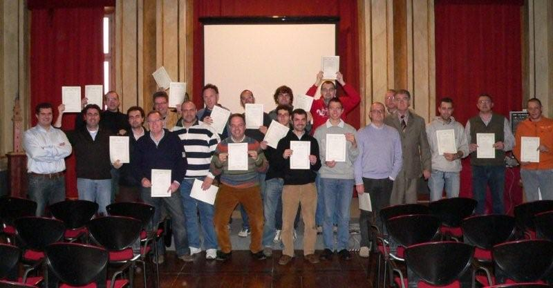 Galileo Master Certificate handed out at a training course