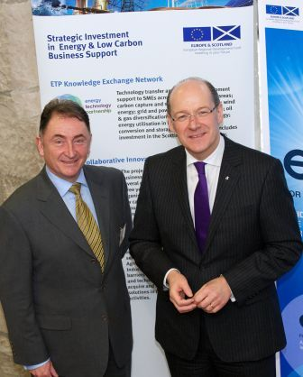 John Swinney, Cabinet Secretary, Scottish Parliament, and Professor Jim McDonald, Chairman of ETP at the launch of ETP's Knowledge Exchange Network
